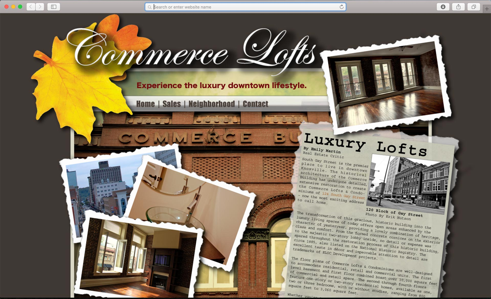 Commerce Lofts Homepage