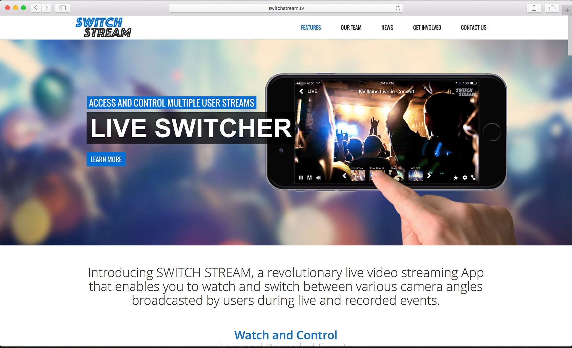 Switch Stream Homepage